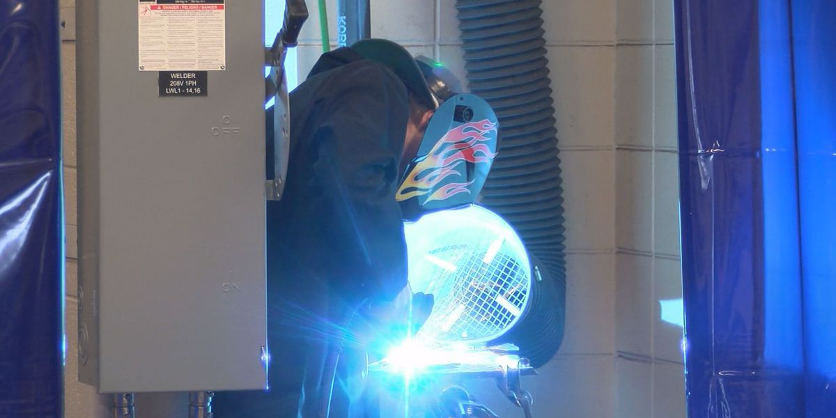 Sparks fly as welders compete for scholarship