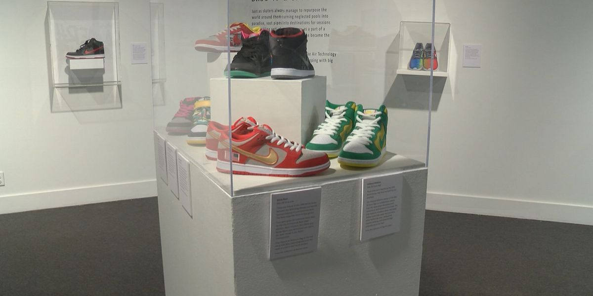 Sneakers decorate halls of Albany Art Museum