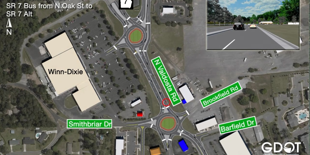 GDOT needs public's feedback for two roundabout design proposals in Valdosta