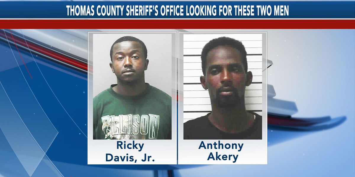 Thomas Co. Sheriff's Office looking for 2 wanted men