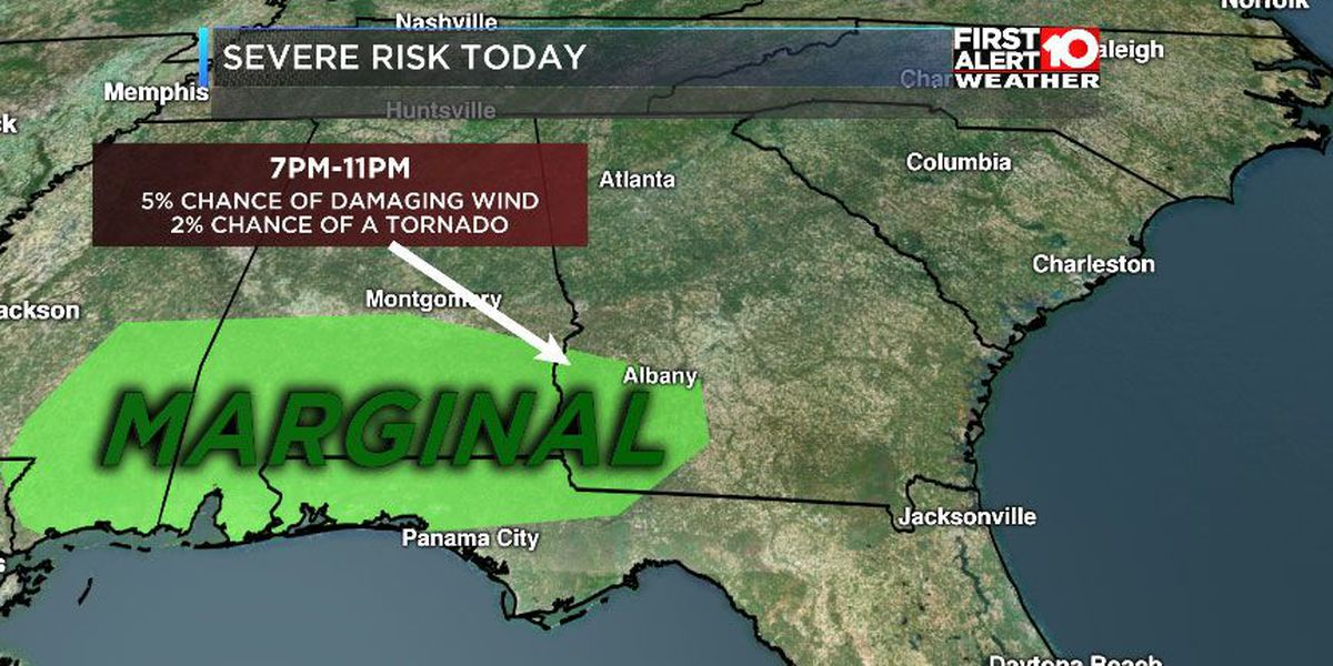 FIRST ALERT Weather: Severe storm risk tonight