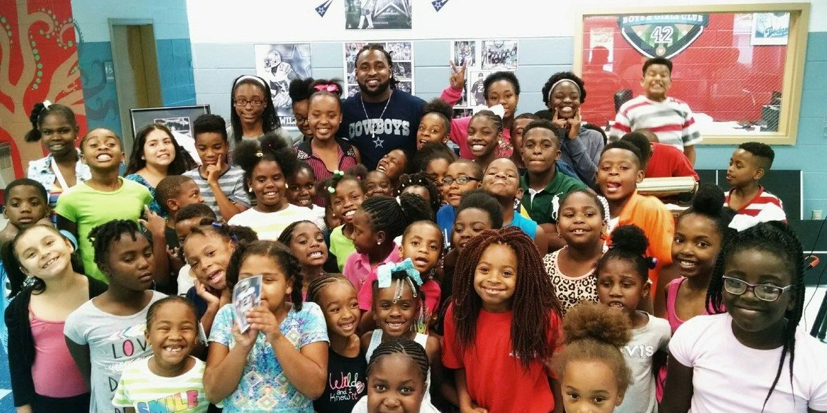 Pro football player visits Cairo youth club