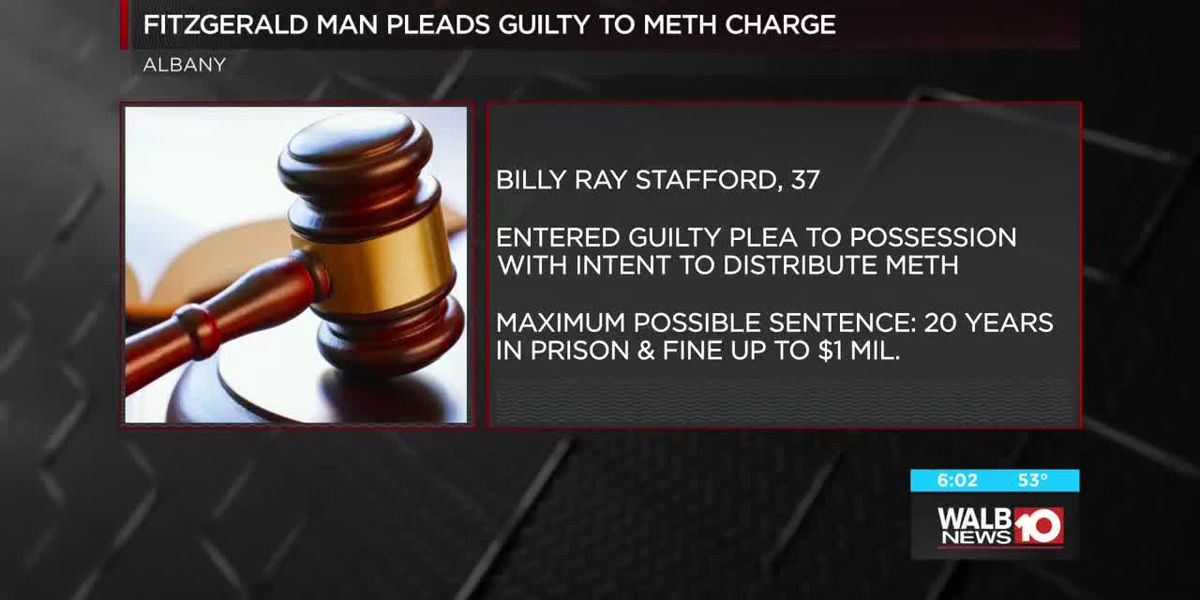 Fitzgerald man pleads guilty to meth charge