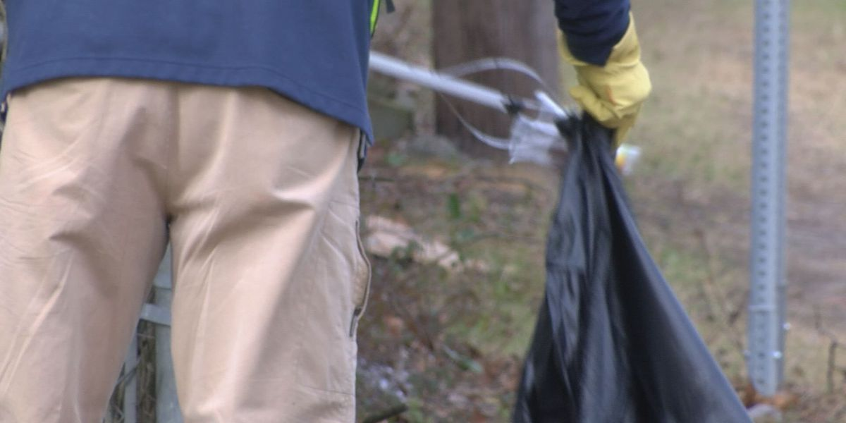 Volunteers clean up Clark Avenue