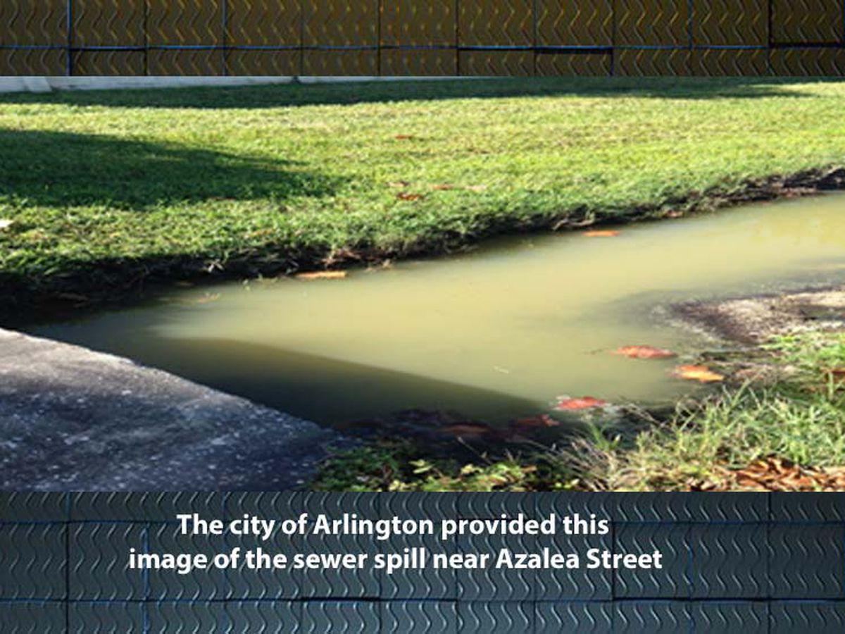 Arlington announces sewer spill... from July