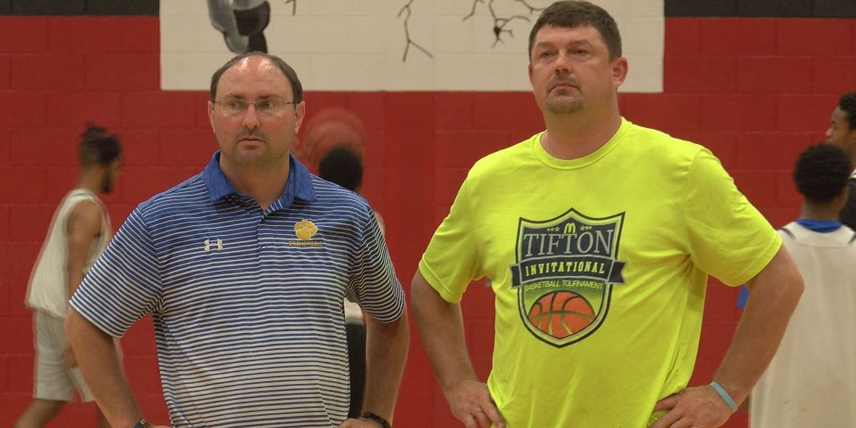 Coaches testing strategies at Trojan League 2018