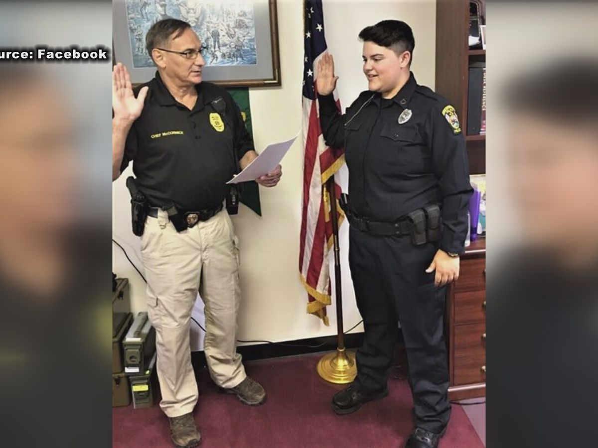 Youngest officer to join Pelham Police Dept. gets sworn in