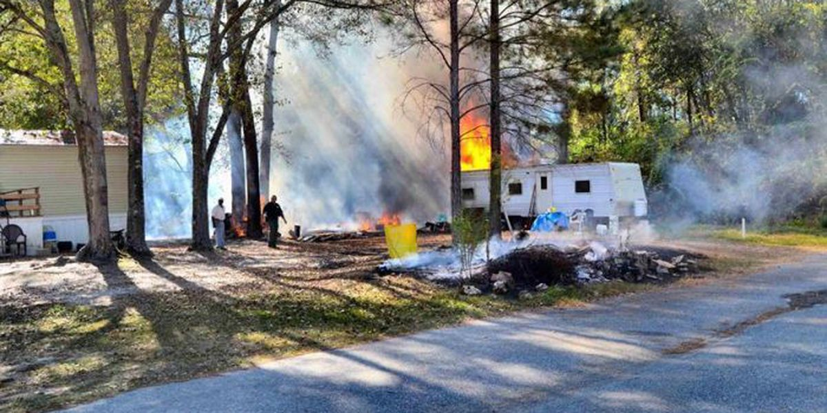 Officials investigate camper fire in Mitchell Co.