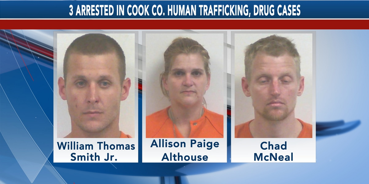 Cecil Police Dept. arrests 3 in human trafficking, drug cases