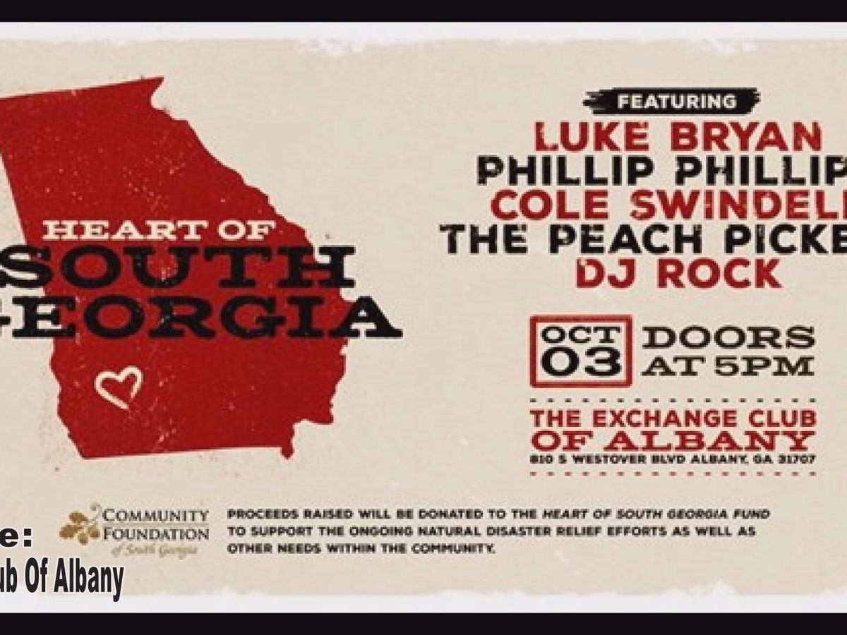Where will the funds from the Heart of South Georgia benefit concert go?