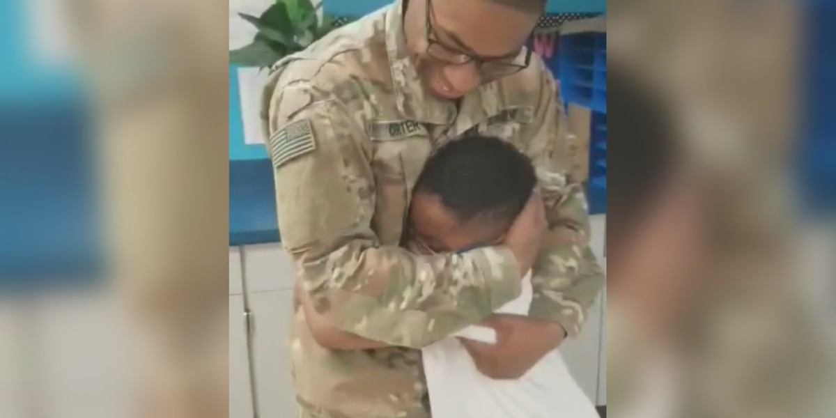 MLK Elementary School student surprised as soldier brother comes home to Columbus