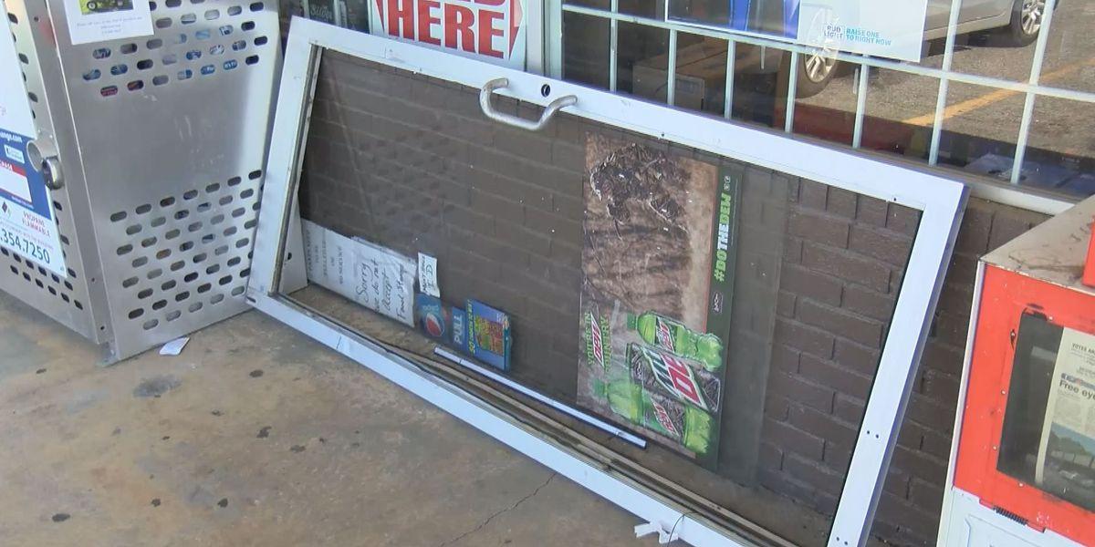 Cars slam into stores, businesses burglarized