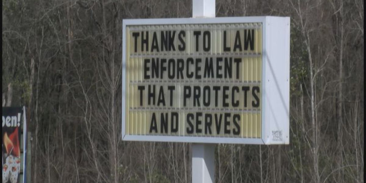 Restaurant thanks law enforcers for hard work