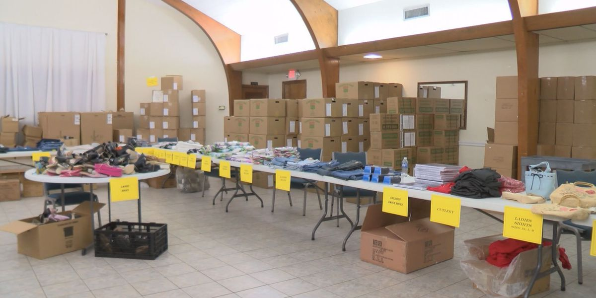 Church passes out new household supplies for storm survivors