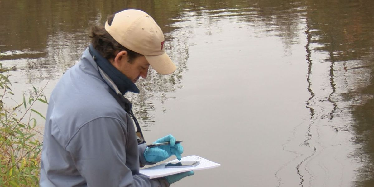 Experts test the Kinchafoonee after heavy rainfall