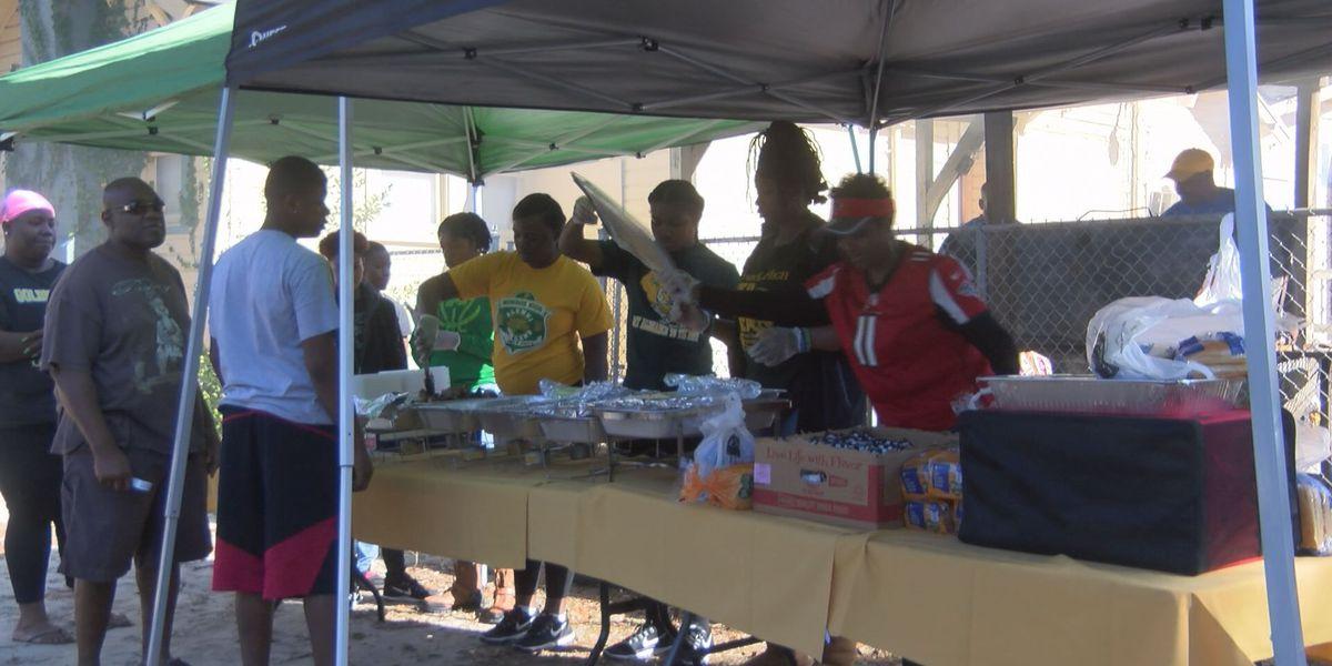 Community members feed neighbors