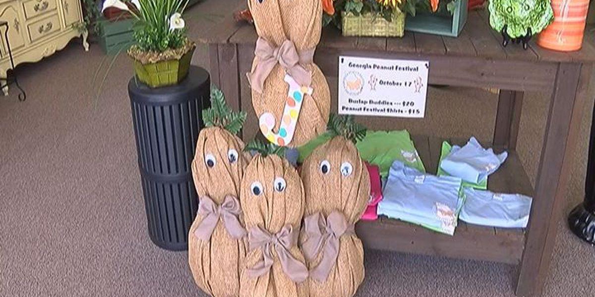 Bloomers Floral Design makes burlap buddies for peanut festival