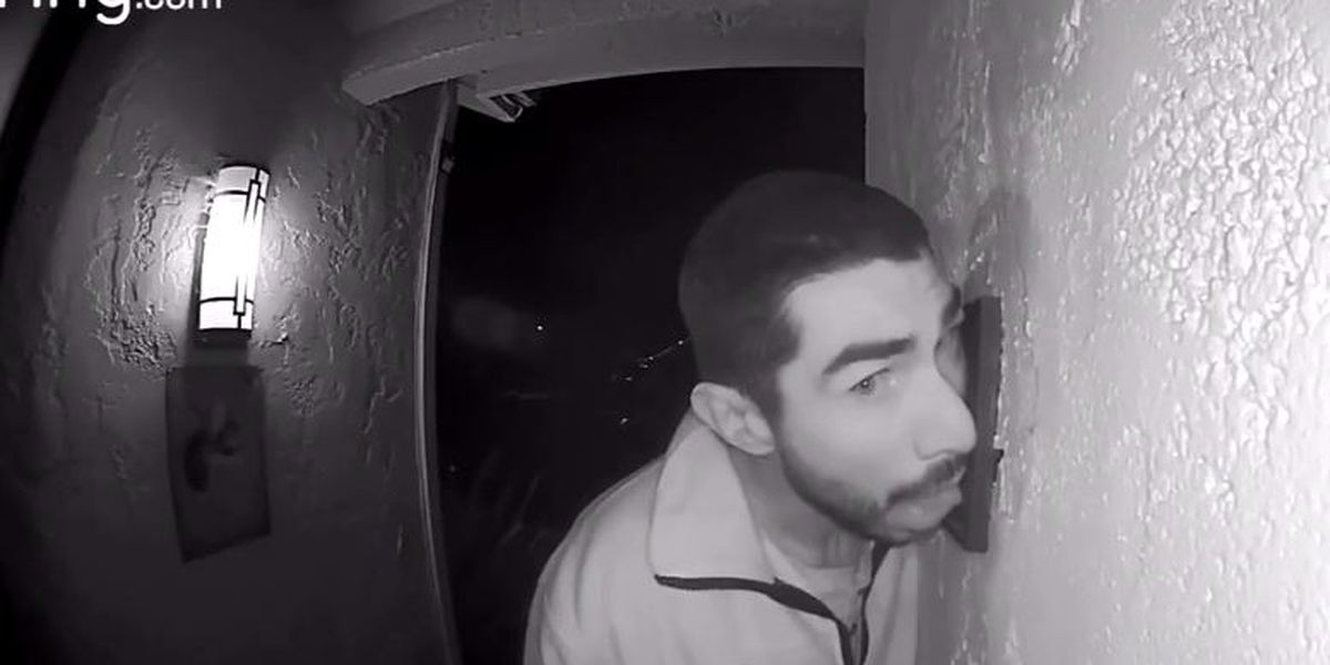 Man caught on camera licking doorbell, prowling outside CA home for 3 hours