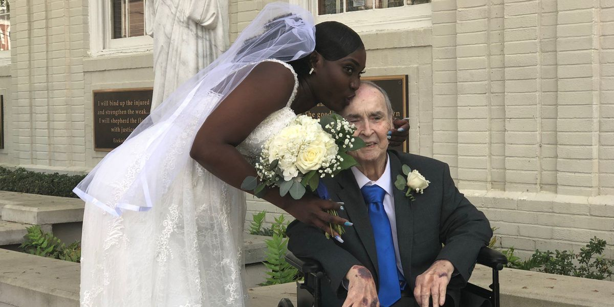 Man in hospice care gets dream wedding