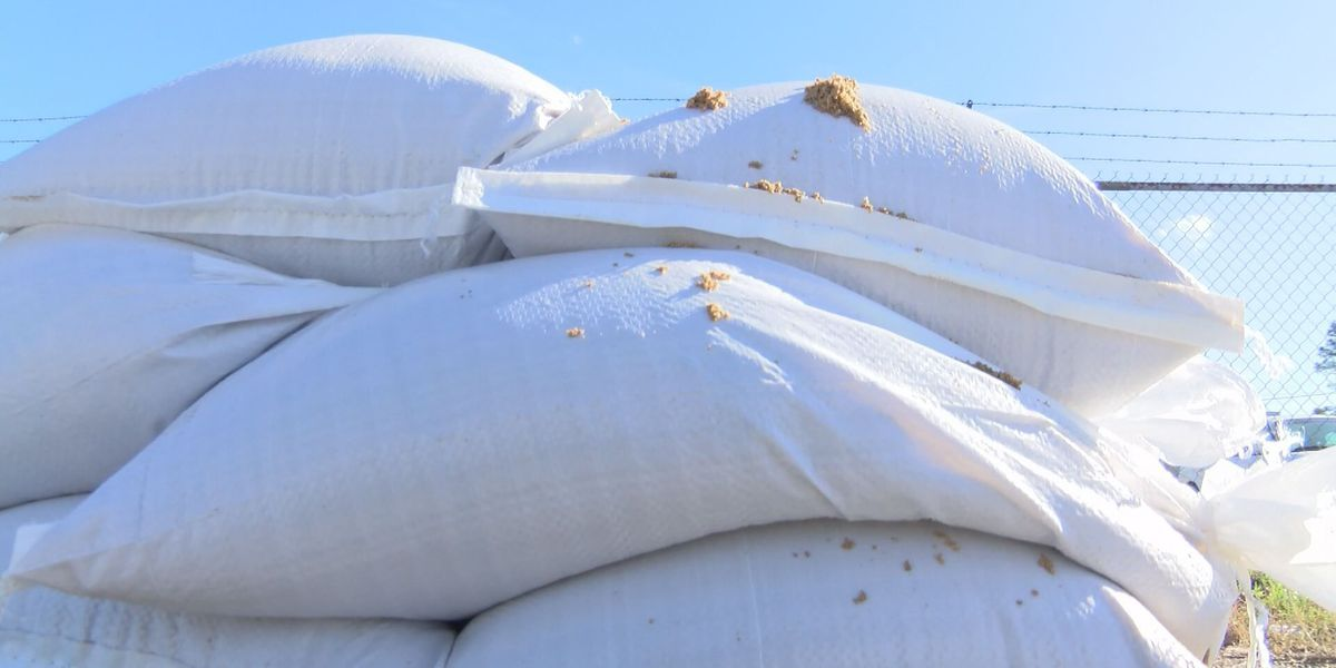 Sandbags are available