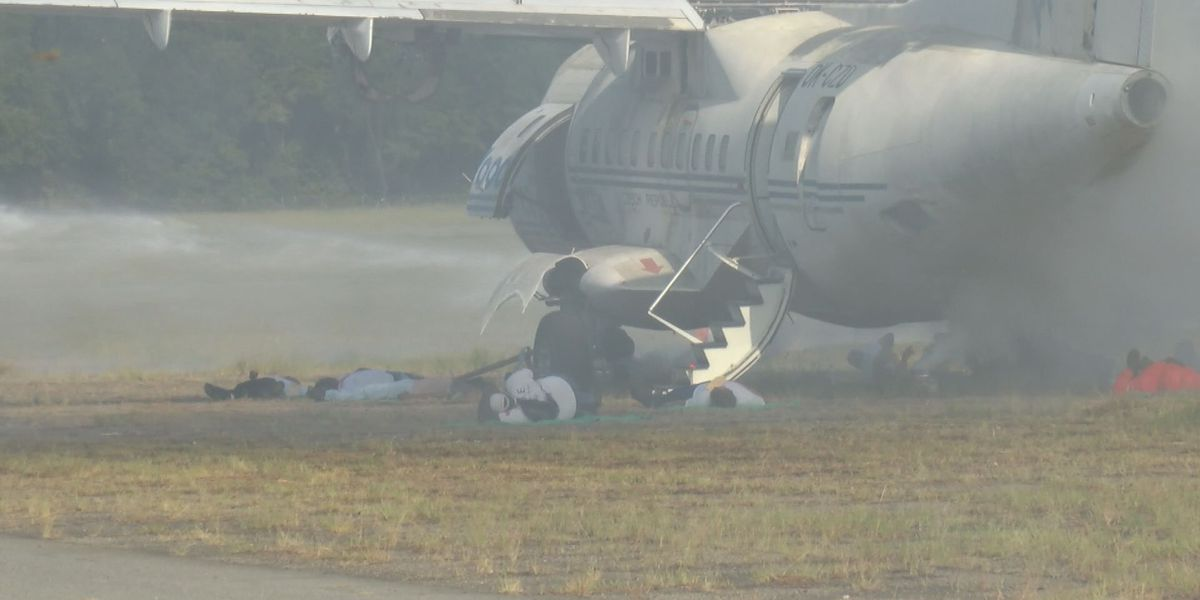 Albany First Responders and hospital join in airport simulated drill