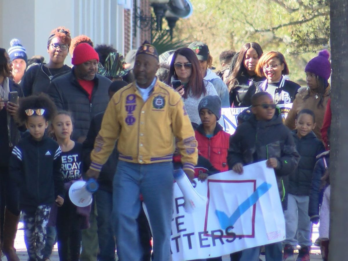 Dozens walk across Albany to celebrate Martin Luther King Jr.'s legacy
