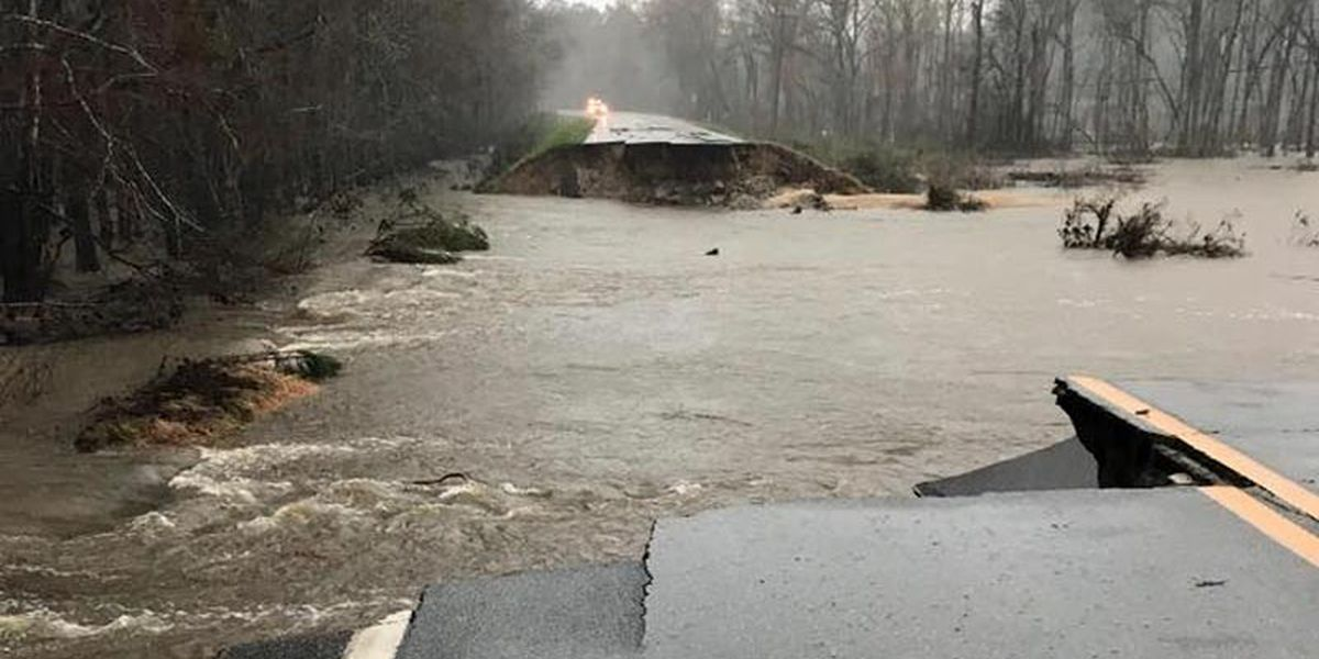 Many South GA roads affected by flood water