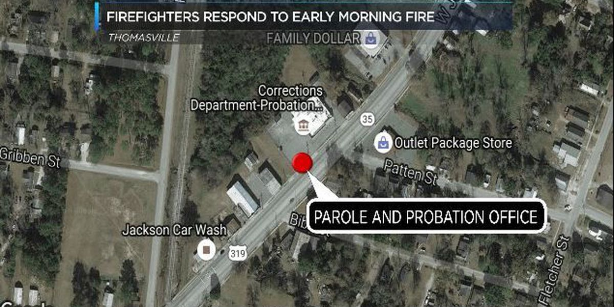 Early morning fire damages Thomasville probation office