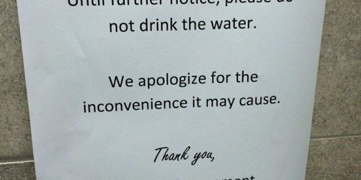 Don't drink the water: Chlorine dumped into supply