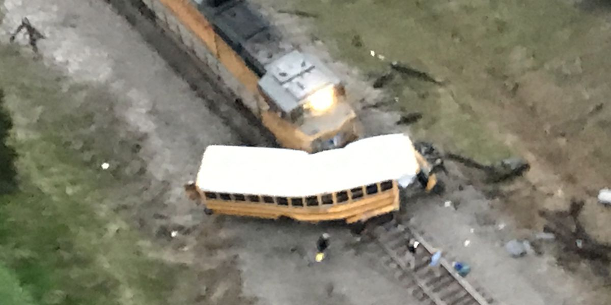 1 student dead in Texas bus-train collision, 2 others injured