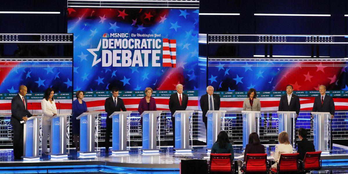 AP FACT CHECK: Claims from the Democratic debate in Atlanta