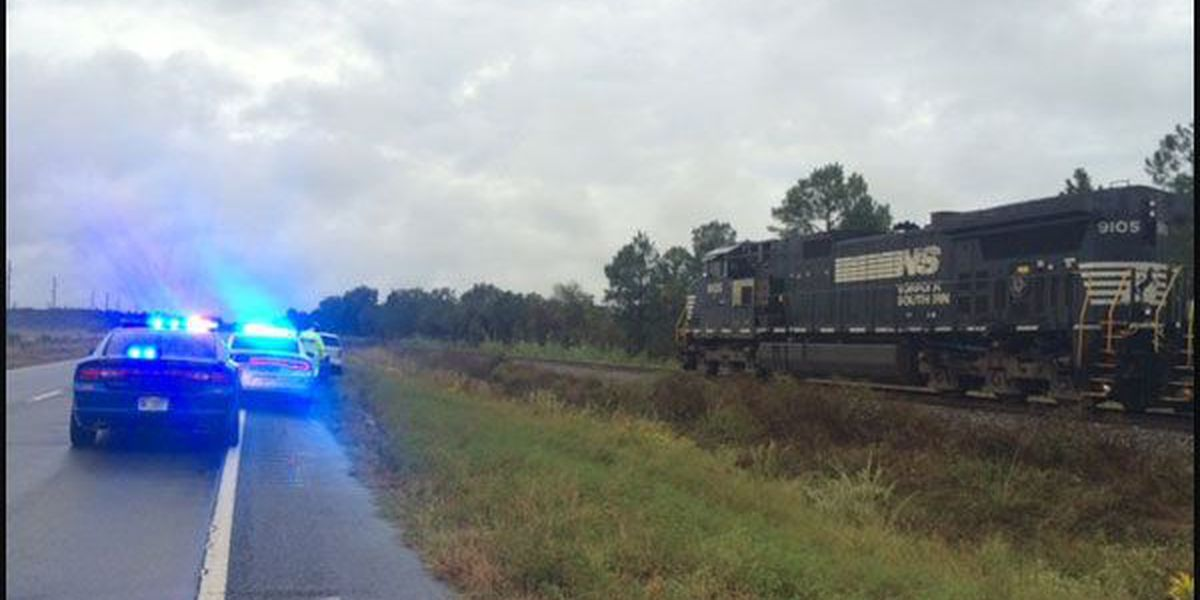 Train, car collide in Lee County