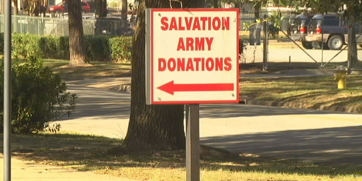 Salvation army collects school supplies donations