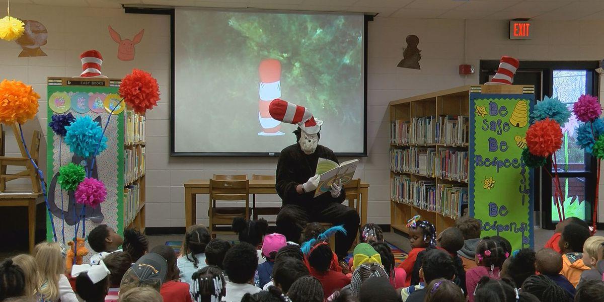 Students at Pelham Elementary celebrate Dr. Seuss' birthday