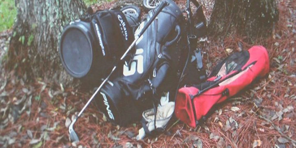 Man wrecks car after stealing golf bags, clubs from country club