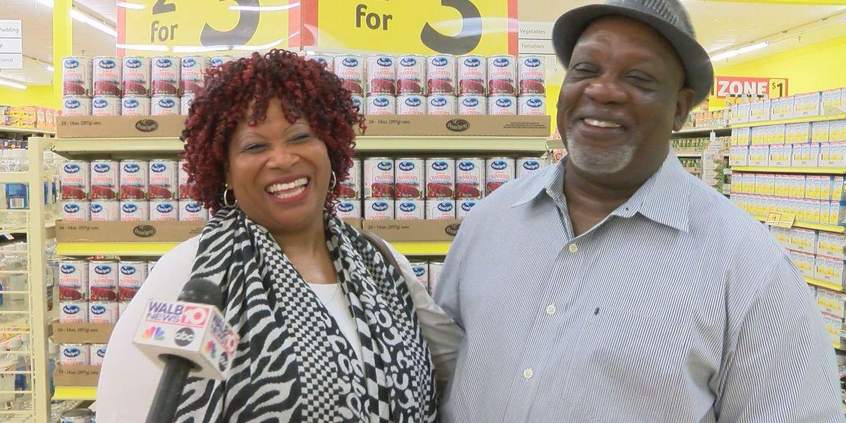 Supermarket wedding couple celebrates first anniversary