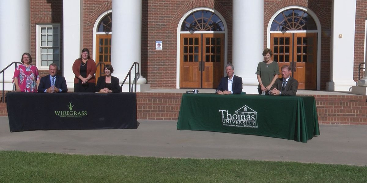 Wiregrass Tech, Thomas University sign new agreements