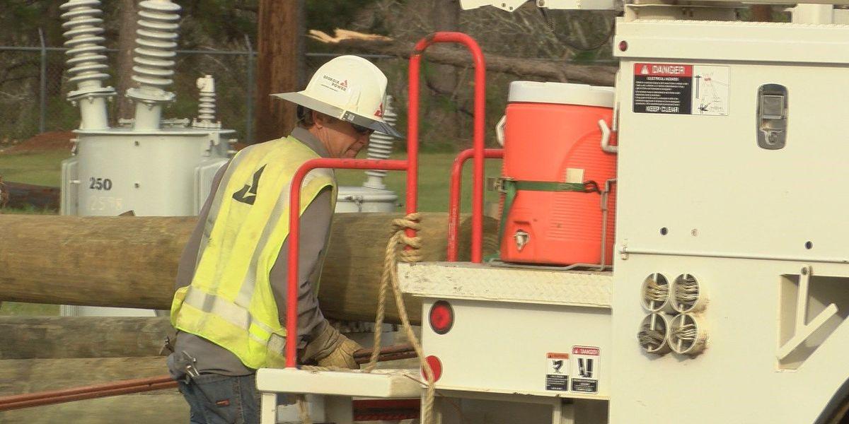 Georgia Power crews work to restore power