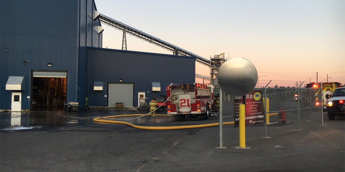 AFD crews respond to small fire at biomass plant