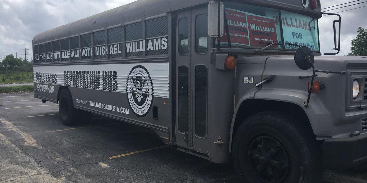 GA Gov. candidate brings 'Deportation Bus' to South GA