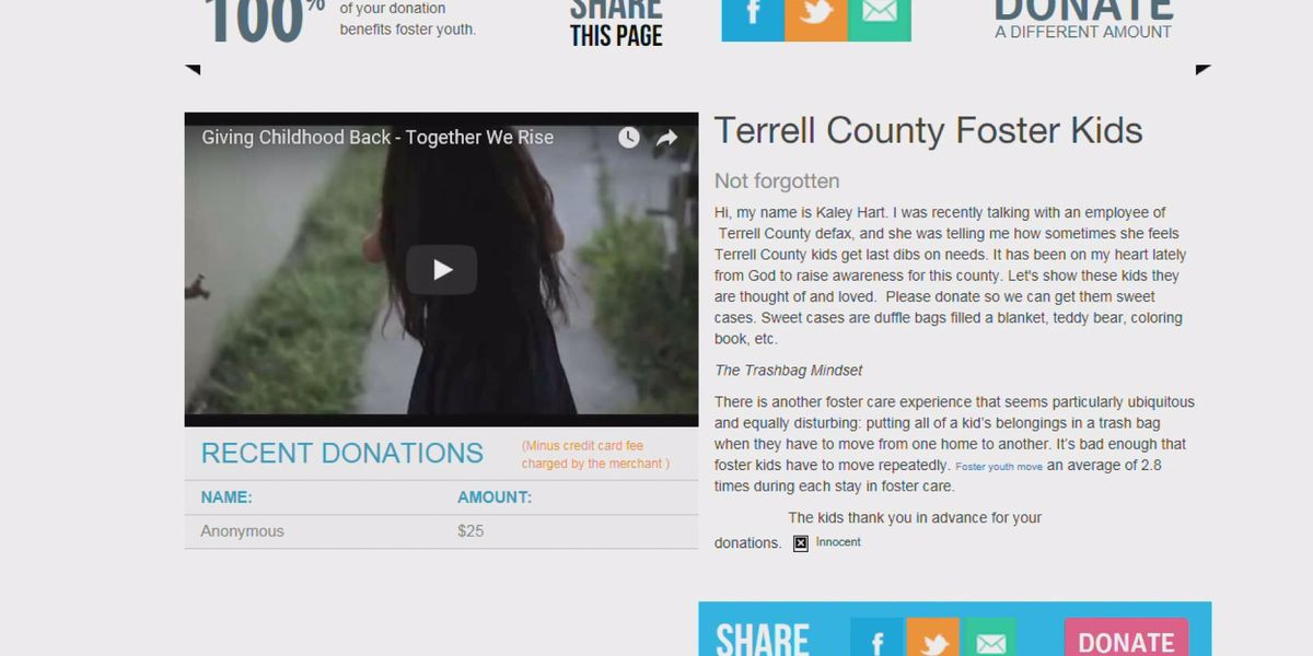 Online fundraiser aims to help foster kids transition from home to home