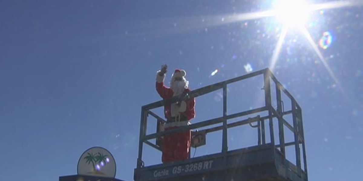 Santa goes to new heights to collect donations