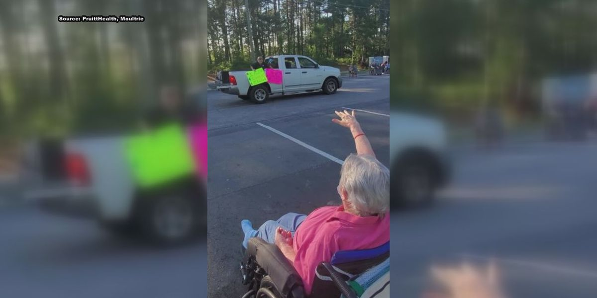 Drive-thru parade brings joy to Moultrie nursing home residents