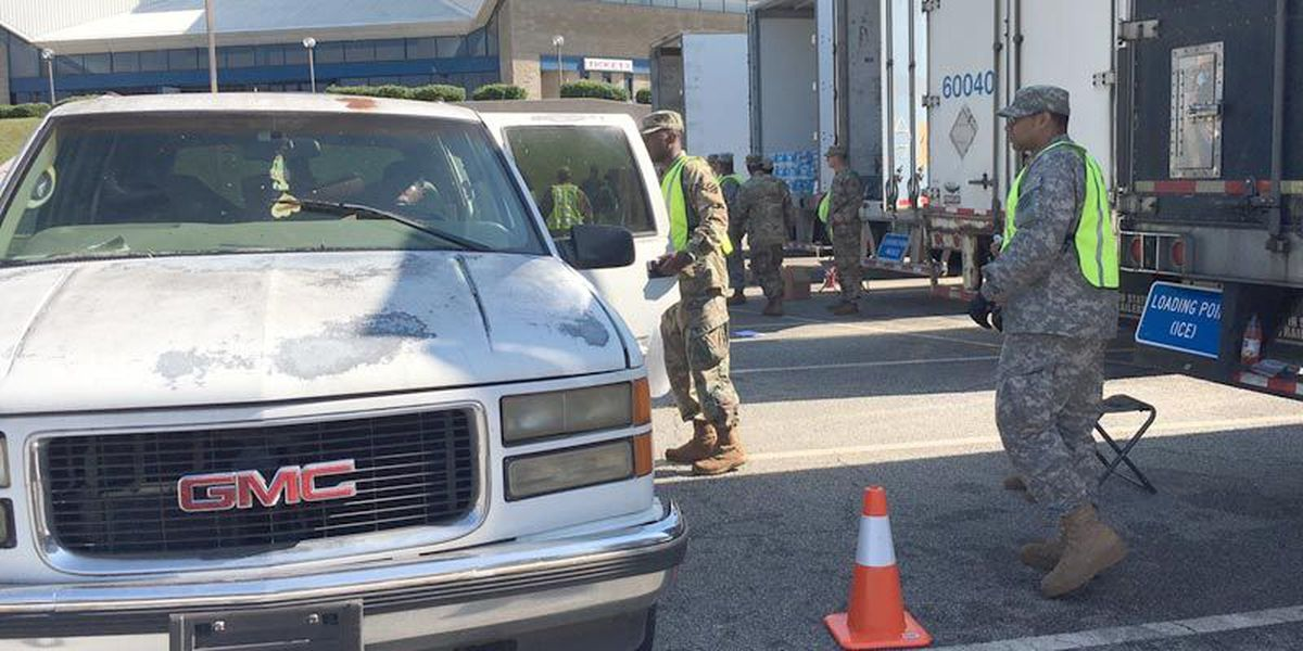 National Guard distributes emergency items at Civic Center