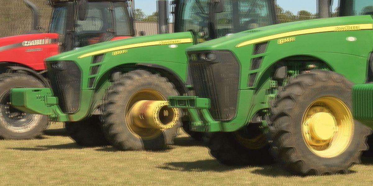 Future farmers drive tractors to school