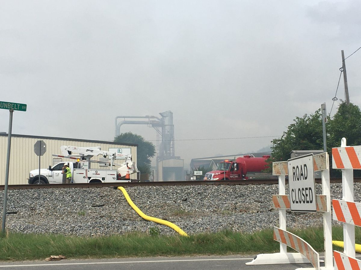 Turner Co. wood plant catches fire