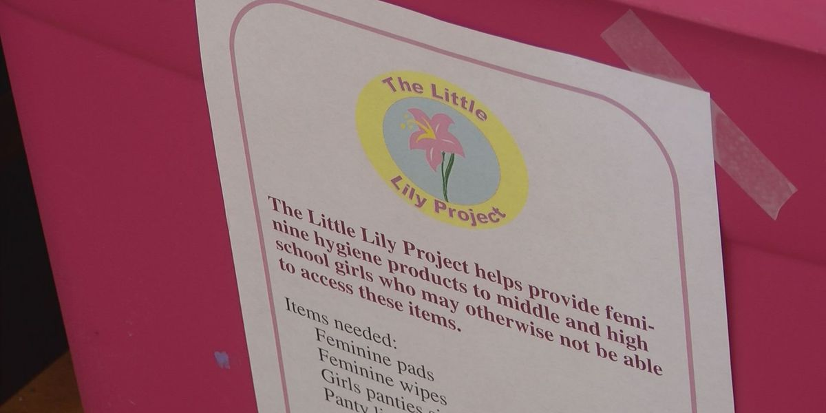 Project collects feminine hygiene products for girls living in poverty