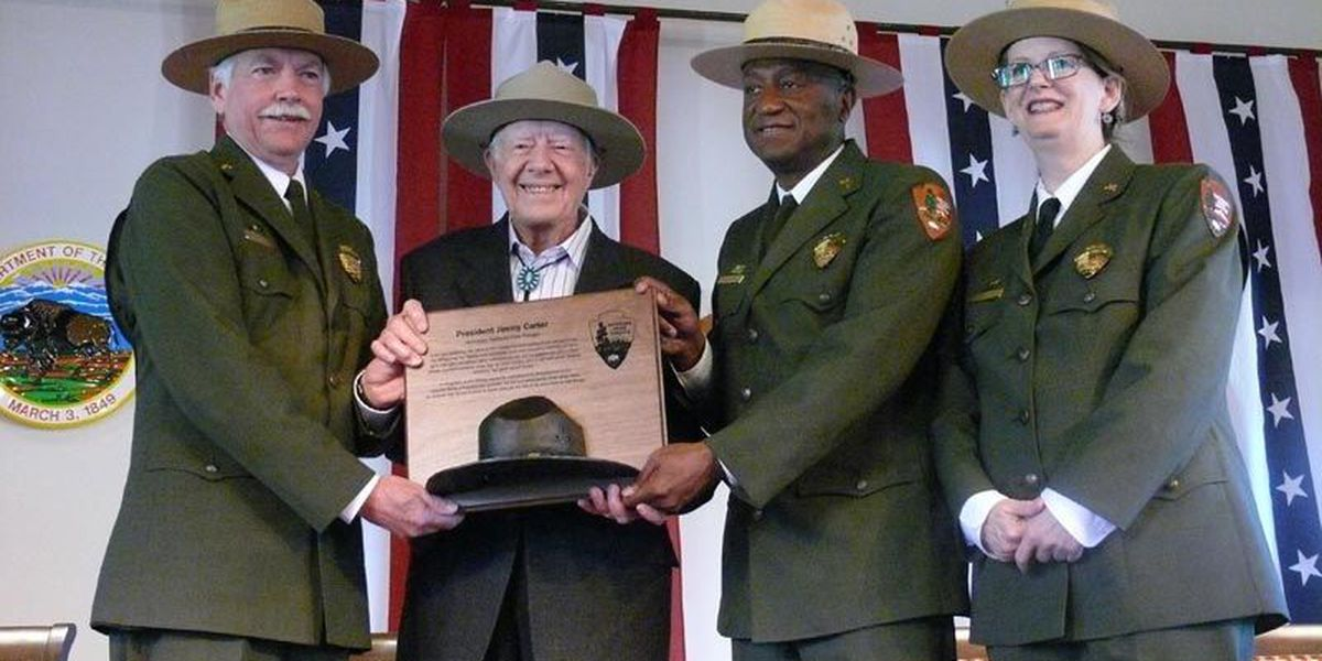 President Carter is an honorary national park ranger