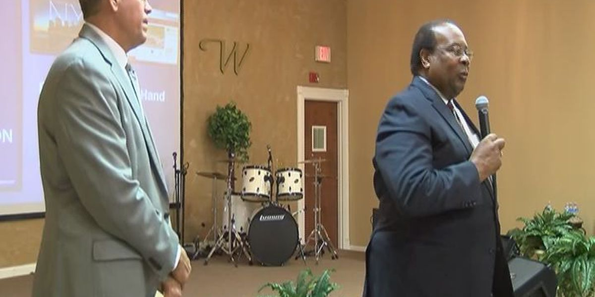 Preachers, police work together in 'Hands Up, Don't Shoot' event