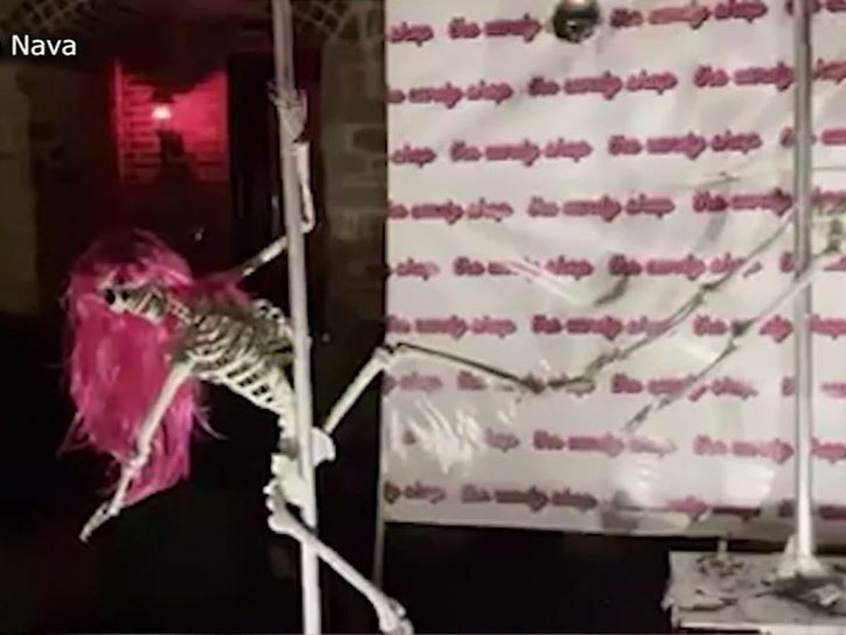 Pole-dancing skeletons deemed 'inappropriate' for Texas neighborhood